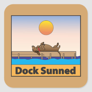 Dock Sunned Square Sticker