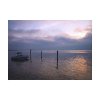 Docked at Sunset Canvas Print