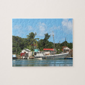 Docked Boats at Antigua Jigsaw Puzzle