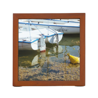 Docked Boats In Water Nautical Photography Pencil/Pen Holder