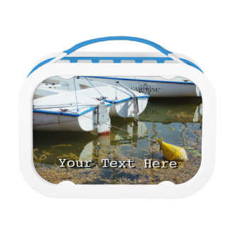 Docked Boats In Water Nautical Photography Yubo Lunchbox