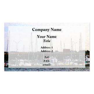 Docked Boats Norfolk VA Business Card Templates