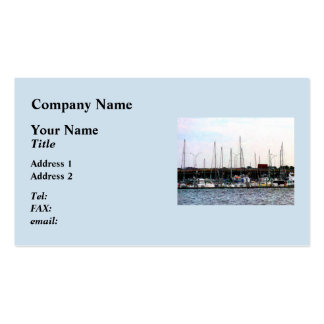 Docked Boats Norfolk VA Business Card Template