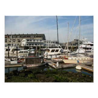 Docked Boats Poster