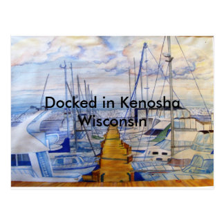 Docked in Kenosha Wisconsin Postcard