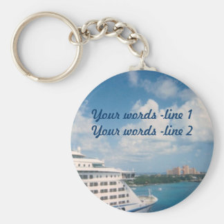 Docked in Nassau Custom Key Ring
