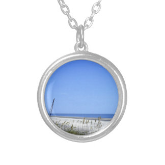Docked on Sapelo Silver Plated Necklace