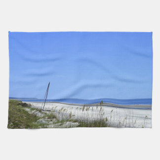 Docked on Sapelo Tea Towels