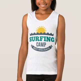 Docker BASIC Girl Surfing Singlet
