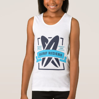 Docker BASIC Girl Surfing Singlet