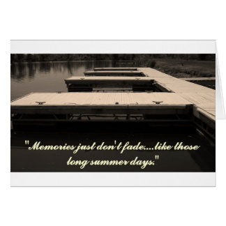 Docks  With Message Card