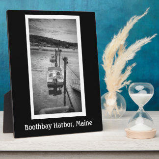 Dockside Boothbay Harbour 8x10 With Easel Plaque