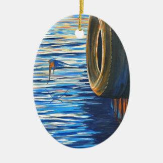 Dockside Swallows Ceramic Ornament
