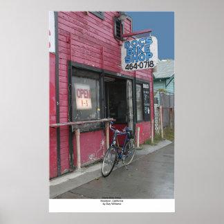 Doc's Bike Shop, Stockton, California Poster