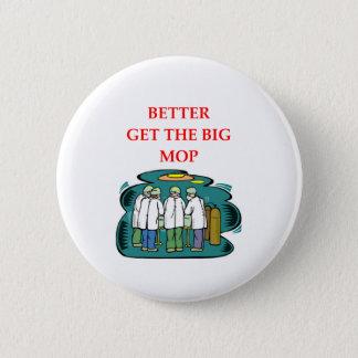 doctor 6 cm round badge