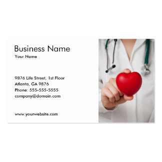 Doctor and Heart Business Card Template