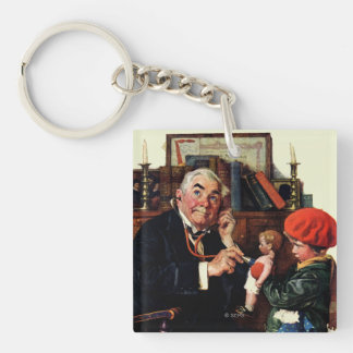 Doctor and the Doll Double-Sided Square Acrylic Key Ring