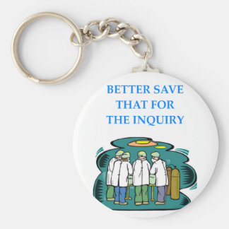DOCTOR BASIC ROUND BUTTON KEY RING