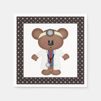Doctor Bear cartoon party napkins Disposable Napkin