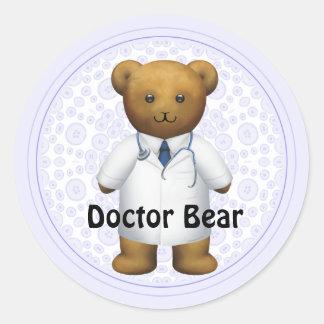 Doctor Bear - Teddy Bear Round Sticker