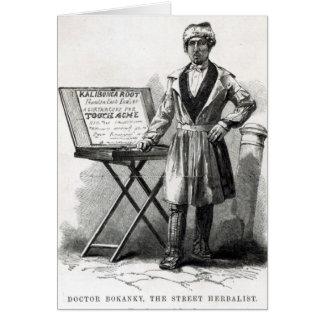 Doctor Bokanky, the street herbalist Card