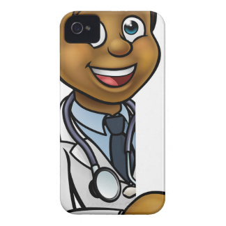 Doctor Cartoon Character Pointing Sign Case-Mate iPhone 4 Cases