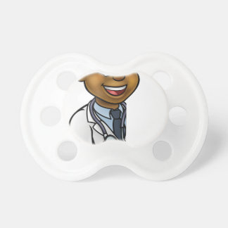 Doctor Cartoon Character Pointing Sign Dummy