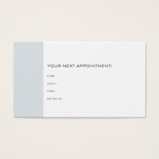 Doctor Dentist Therapist Chic Appointment Reminder Business Card
