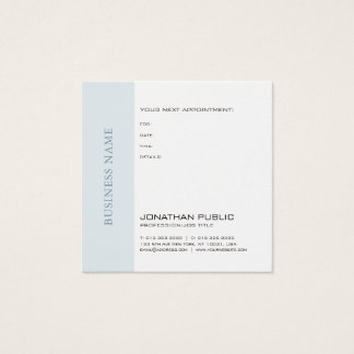 Doctor Dentist Therapist Chic Appointment Reminder Square Business Card