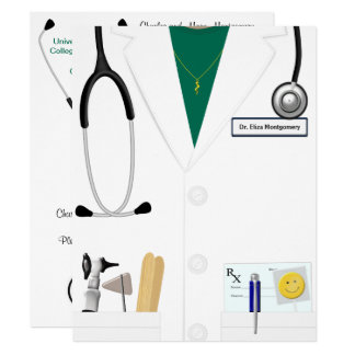 Doctor Female Medical Graduation In Green Card