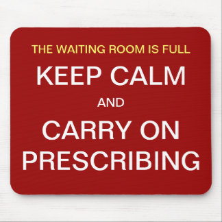 Doctor Funny Mousepad - Keep Calm Carry On