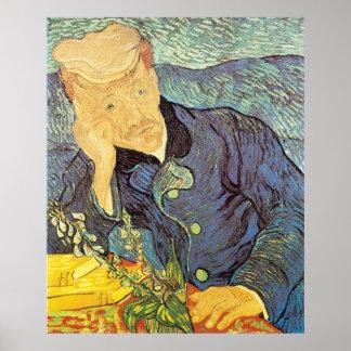 Doctor Gachet Portrait by Vincent van Gogh Poster