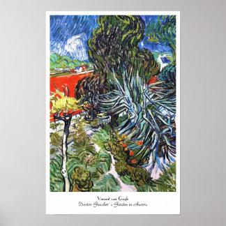 Doctor Gauchet`s Garden in Auvers Vincent van Gogh Poster