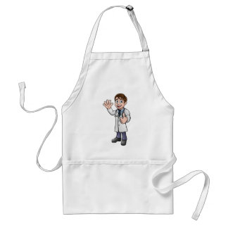 Doctor Giving Thumbs Up Cartoon Character Standard Apron