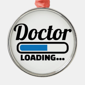 Doctor loading metal ornament