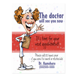 Doctor/Medical appointment reminder postcard