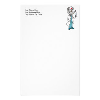Doctor Nurse Mouse Personalized Stationery