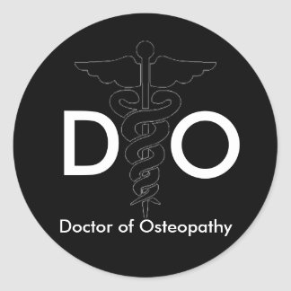 Doctor of Osteopathy Classic Round Sticker
