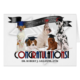 Doctor of Veterinary Medicine Graduate Custom Dogs Greeting Card