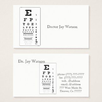 Doctor Office Eye Care Destiny Destiny'S Business Card