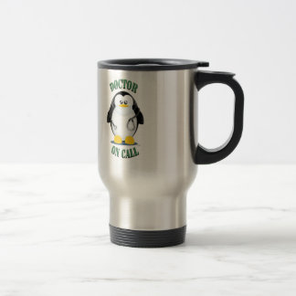 Doctor on Call Penguin Travel Mug