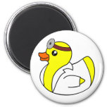 Doctor Quack the Rubber Duck 6 Cm Round Magnet