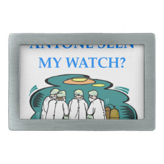 doctor rectangular belt buckle