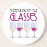 Doctor Says I Need Glasses Coasters