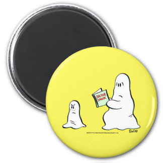 doctor spook 6 cm round magnet