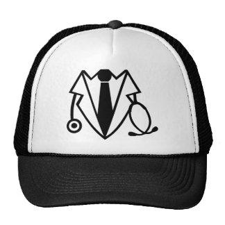 Doctor suit tuxedo trucker hat