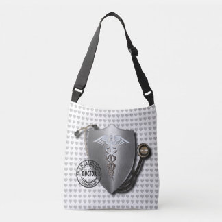 Doctor Symbols Caduceus On Stethoscope And Stamp Tote Bag