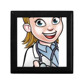 Doctor Thumbs Up Cartoon Character Sign Gift Box