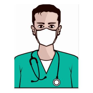 Doctor vector postcard