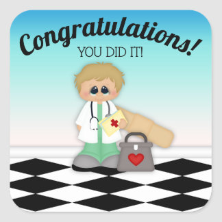 Doctor Visit Congratulations Kid's Sticker